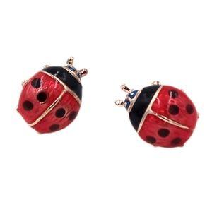 Darling Ladybug Post Earrings NWT-